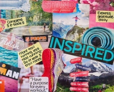 2015 Vision Board - Eat Spin Run Repeat - trail running goals