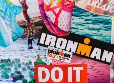 2015 Vision Board - Eat Spin Run Repeat - Ironman 70.3 goal