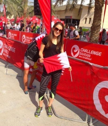 At Challenge Bahrain finishing chute