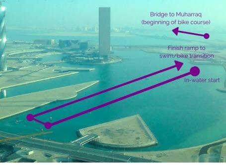 Challenge Bahrain Swim Course