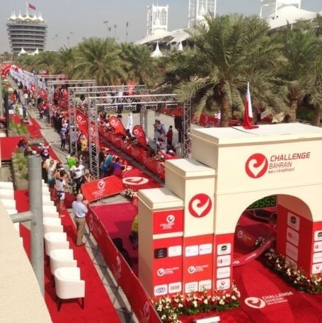 Challenge Bahrain finishing chute