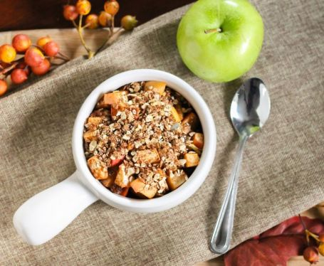 Clean Eating-Approved Apple Crisp for One - Eat Spin Run Repeat 4
