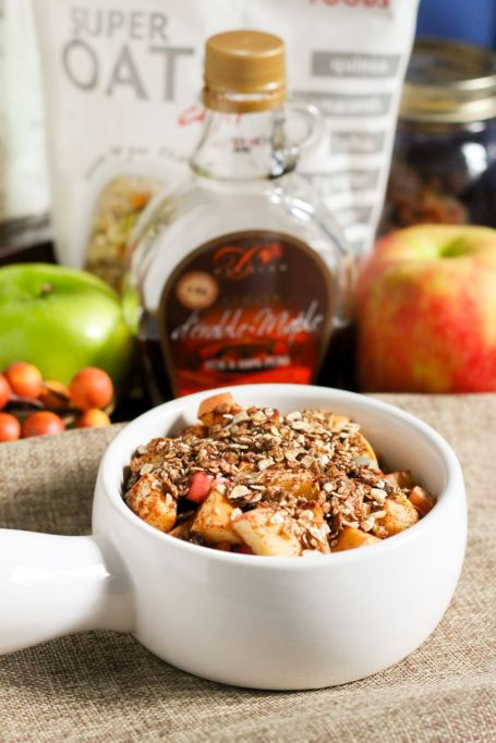 Clean Eating-Approved Apple Crisp for One - Eat Spin Run Repeat