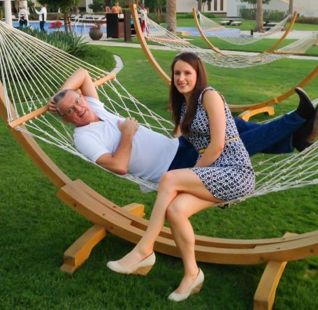 Dad and I in a hammock