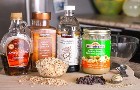 Peanut Butter Chocolate Chip Granola - ingredients