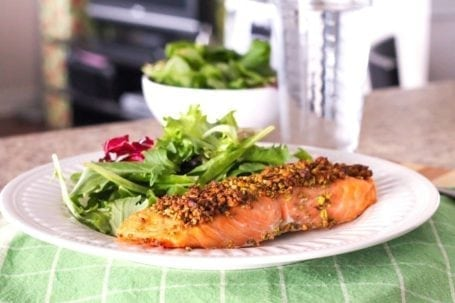 Pistachio Dill Crusted Salmon - Eat Spin Run Repeat