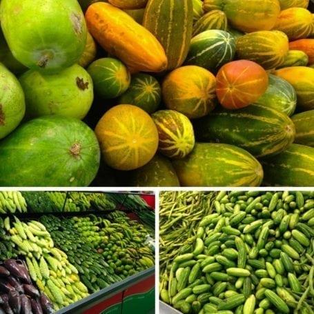 funny veggies at market