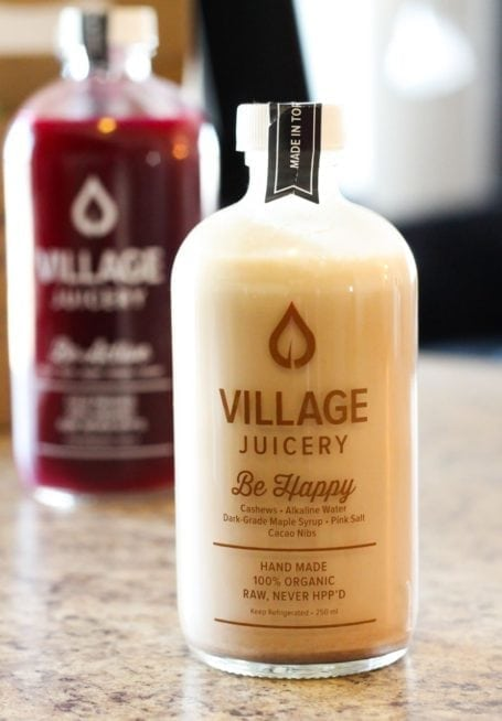 Be Happy cashew milk from The Village Juicery