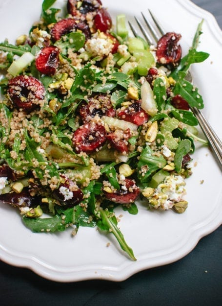 Cookie and Kate - Cherry Couscous & Arugula Salad with Balsamic Vinaigrette