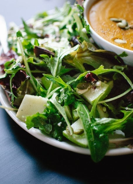 Cookie and Kate - Favourite Green Salad with Apples Cranberries and Pepitas
