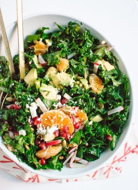 Cookie and Kate - Kale, Clementine and Feta Salad with Honey-Lime Dressing
