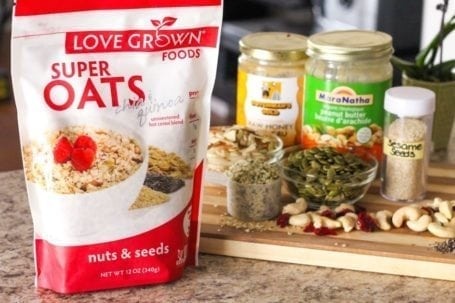 Love Grown Foods Super Oats in Nuts and Seeds