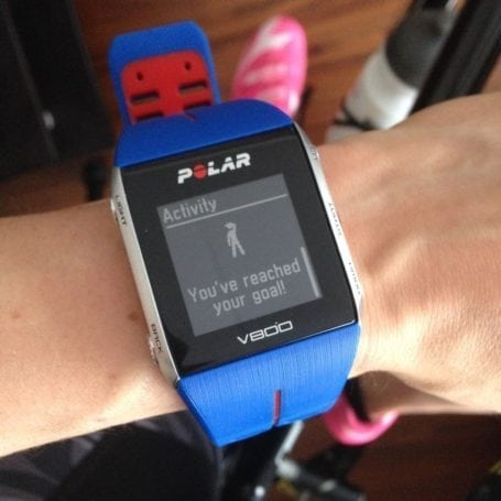 Polar V800 - goal reached