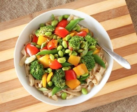 Edamame Stir Fry Noodle Bowls - Eat Spin Run Repeat