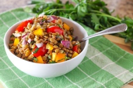 The Best Lentil Salad - Eat Spin Run Repeat