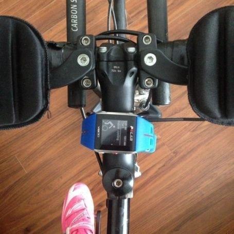 bike trainer setup with polar v800
