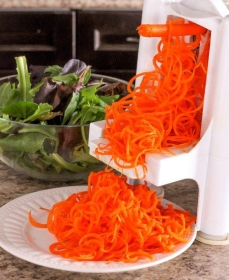 spiralized carrot