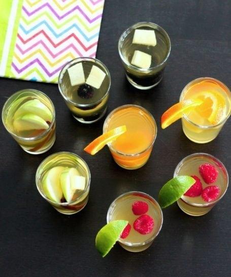 Assorted DIY homemade kombucha flavours - Eat Spin Run Repeat