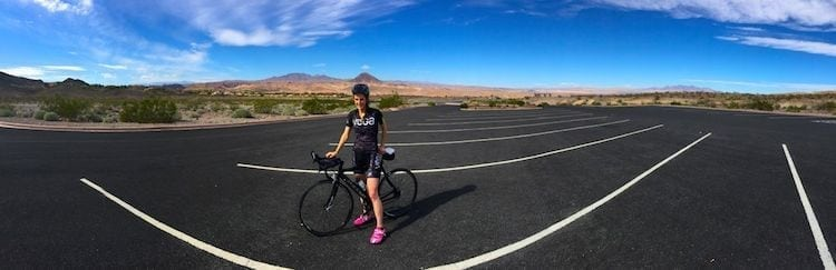 Day 1 cycling in Lake Mead