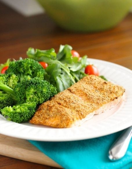 Flaxseed and Herb-Crusted Salmon - Eat Spin Run Repeat