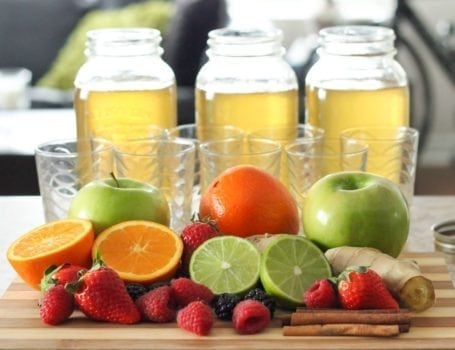 Fruit to flavour homemade kombucha - Eat Spin Run Repeat