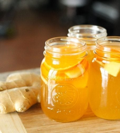 Homemade Ginger Orange Kombucha - Eat Spin Run Repeat