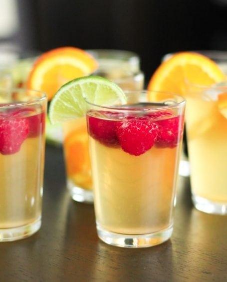 Raspberry Lime Homemade Kombucha - Eat Spin Run Repeat