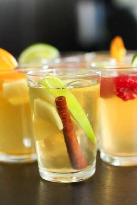 Spiced Apple Cinnamon Raspberry Lime Homemade Kombucha - Eat Spin Run Repeat