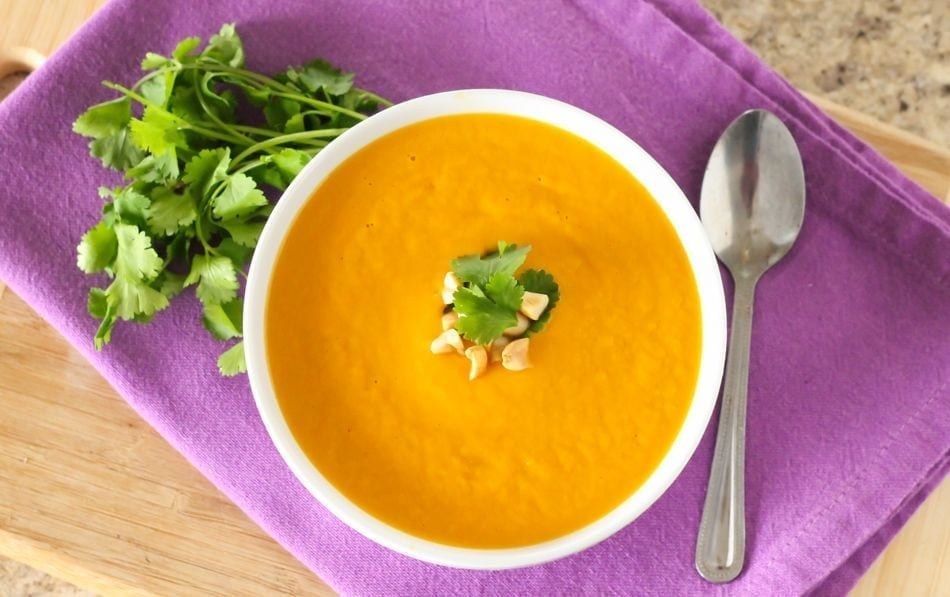 Thai Carrot and Sweet Potato Soup - Eat Spin Run Repeat