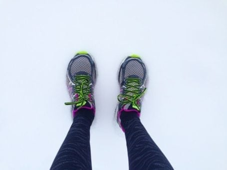asics in the snow