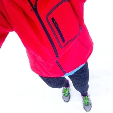 cold weather running gear selfie