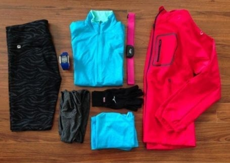 winter running layers