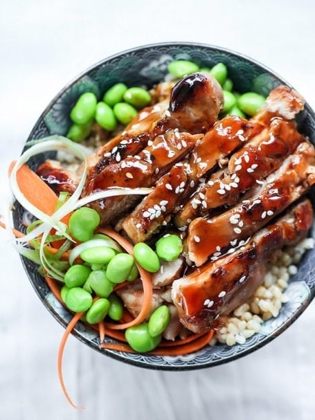 7-Spice Teriyaki Chicken Rice Bowls