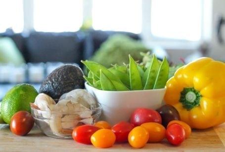 Chipotle Shrimp Salad - Ingredients