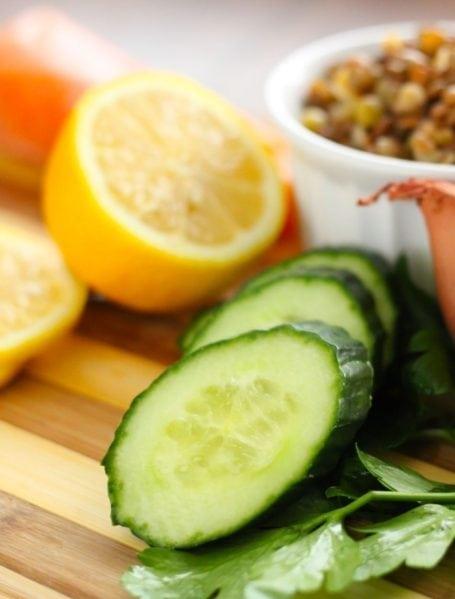 lemon and cucumber