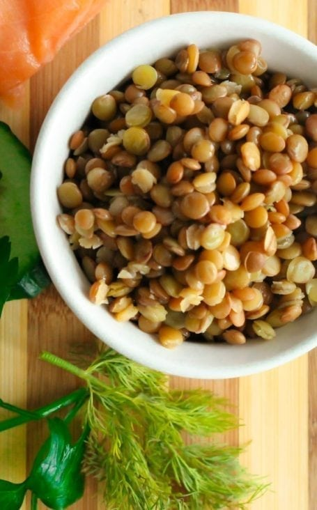 lentils and dill