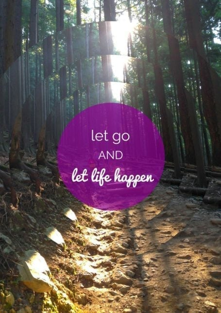 let go and let life happen - eat spin run repeat