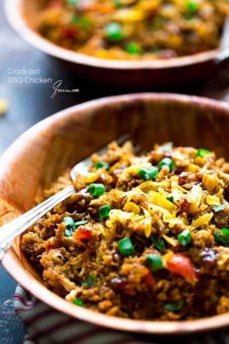 Crockpot BBQ Chicken Quinoa