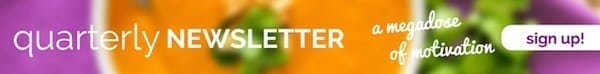 Eat Spin Run Repeat Quarterly Newsletter - Sign Up