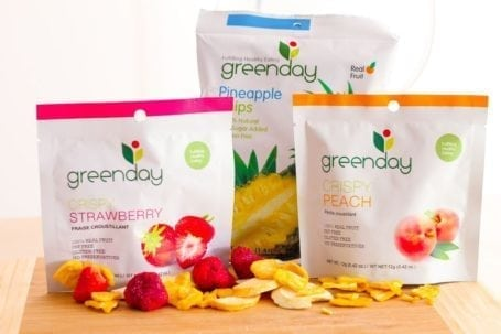 Greenday freeze dried fruit and pineapple chips