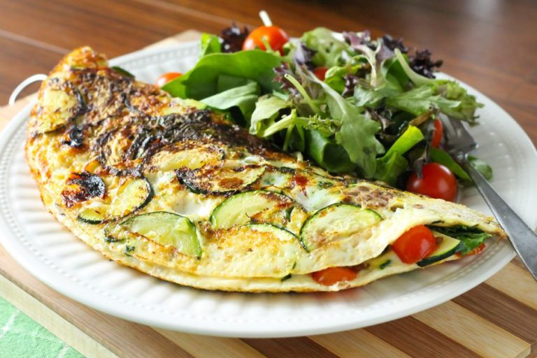 Hearty Lentil and Veggie Suffed Omelette Recipe - Eat Spin Run Repeat