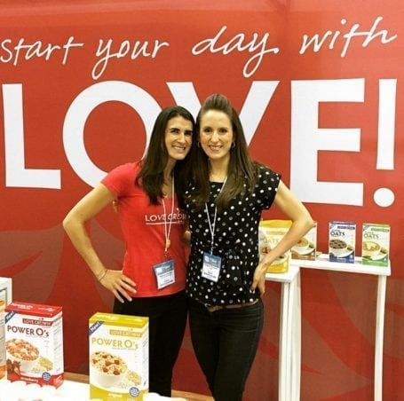 Maddy and I at CHFA West- Love Grown Foods