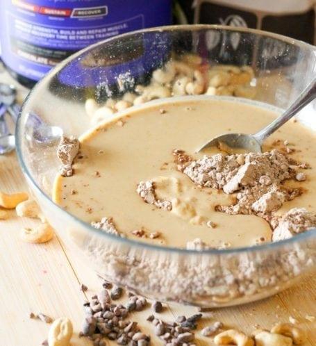 No-Bake Chocolate Cashew Chunk Protein Bars