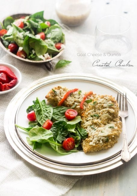 Goat Cheese and Quinoa-Crusted Chicken