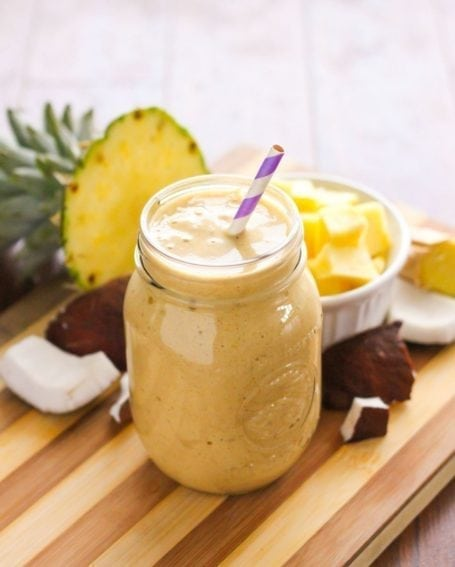 Spiced Pineapple Coconut Smoothie