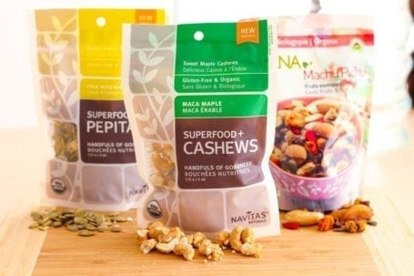 Superfood nut and seed mixes from Navitas Naturals and Prana