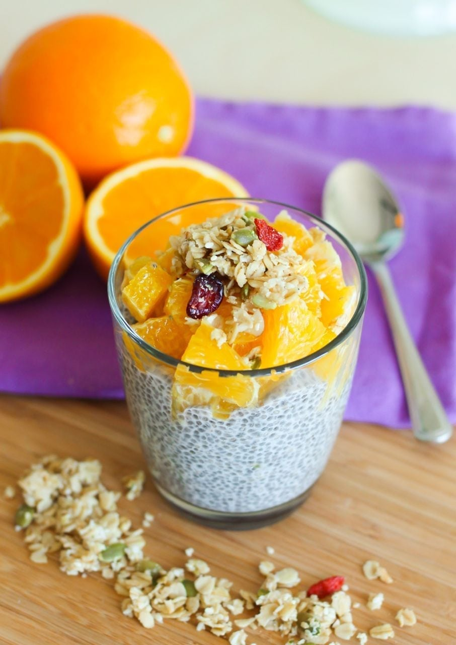 Vanilla Orange Chia Pudding Parfaits