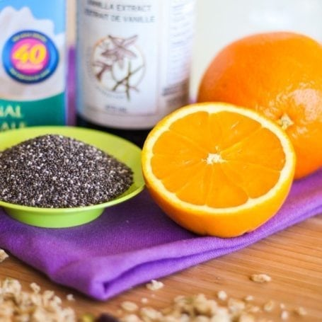 chia seeds and oranges