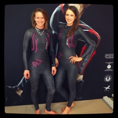 jess and i shopping for wetsuits