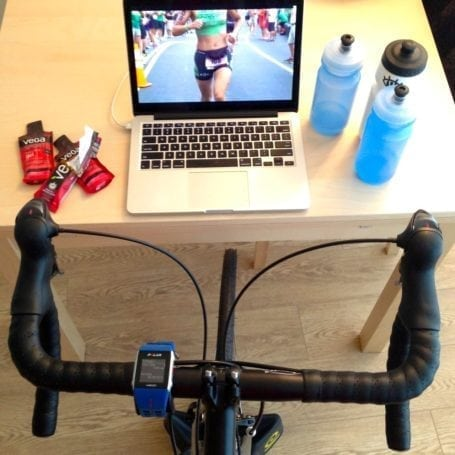 My typical Saturday morning bike trainer setup